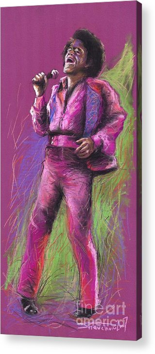 Jazz Acrylic Print featuring the painting Jazz James Brown by Yuriy Shevchuk