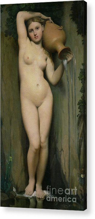 Nude Acrylic Print featuring the painting The Source by Ingres