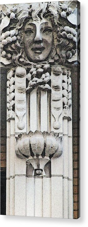Architecture Embellishments Acrylic Print featuring the photograph Embellishment Series by Ginger Geftakys