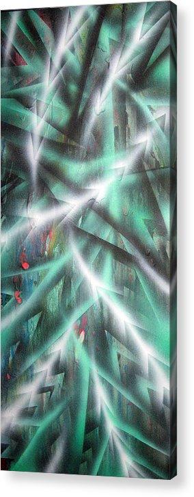Forest Acrylic Print featuring the painting Alien Forest by Leigh Odom