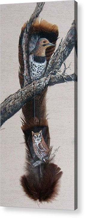 Flicker Acrylic Print featuring the painting Flicker by Theresa Jefferson