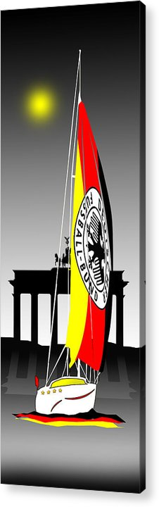 Germany Acrylic Print featuring the digital art Weltmeister-germany by Peter Stevenson