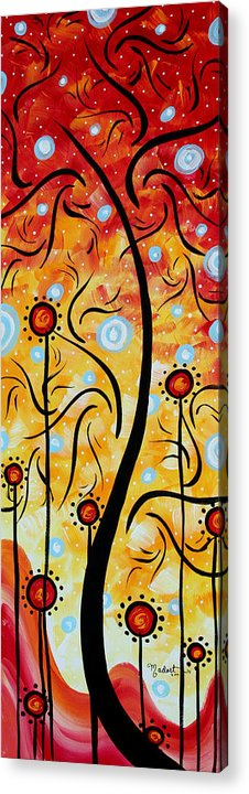 Painting Acrylic Print featuring the painting Happiness By Madart by Megan Duncanson