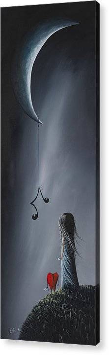 Art Acrylic Print featuring the painting They Feel Your Love Song - Surreal Art By Shawna Erback by Shawna Erback