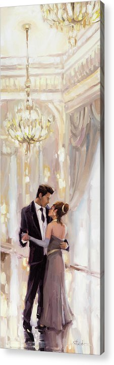 Romance Acrylic Print featuring the painting Just The Two Of Us by Steve Henderson