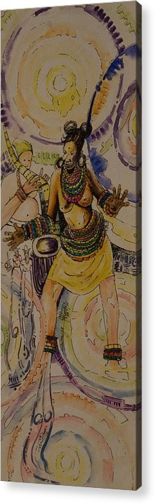 Acrylic Print featuring the painting Royal Entry by Alfred Awonuga