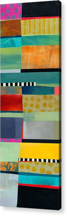 Abstract Art Acrylic Print featuring the painting Stripe Assemblage 2 by Jane Davies