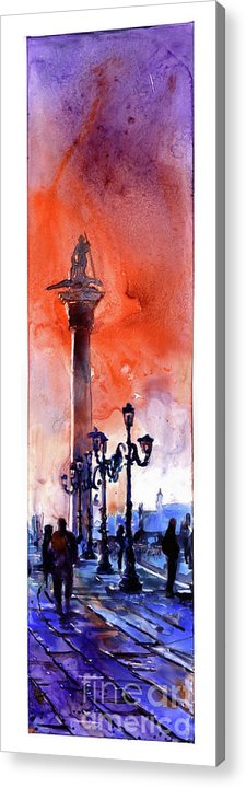 Art For House Acrylic Print featuring the painting St. Mark's Square- Venice by Ryan Fox