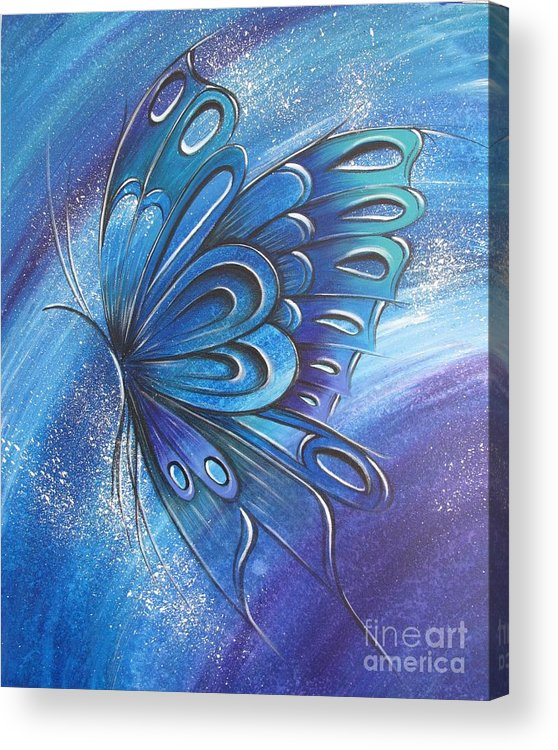 Reina Acrylic Print featuring the painting Butterfly 4 by Reina Cottier