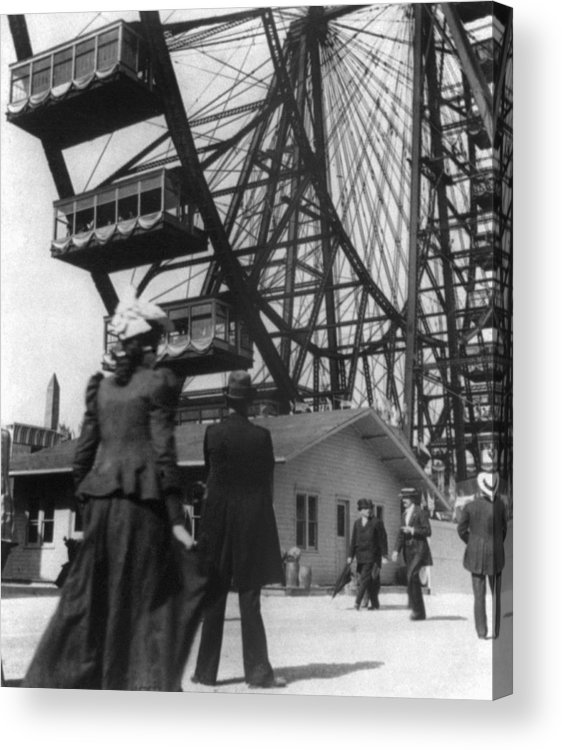 1893 Acrylic Print featuring the photograph Chicago Ferris Wheel, C1893 by Granger