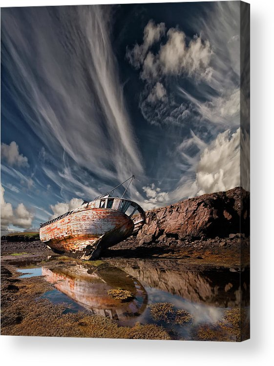Wreck Acrylic Print featuring the photograph Final Place by ?orsteinn H. Ingibergsson