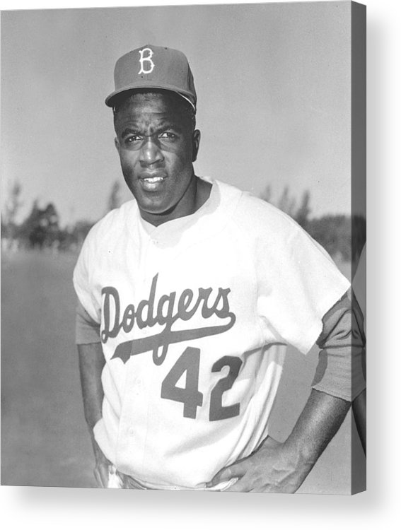 African Americans Acrylic Print featuring the photograph Jackie Robinson Poster by Gianfranco Weiss