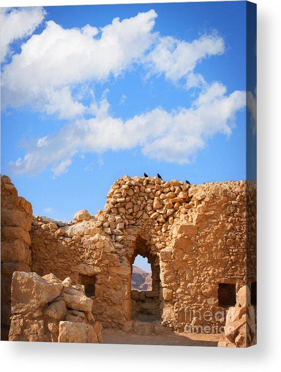 Masada Acrylic Print featuring the photograph Masada Fortress by Stella Levi