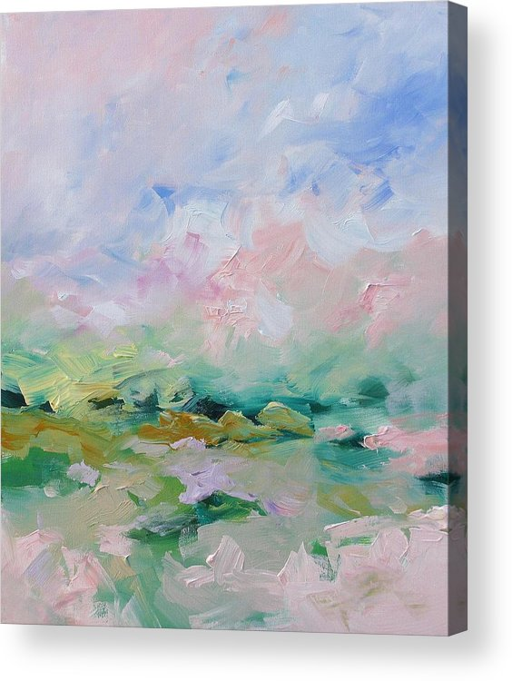 Art Acrylic Print featuring the painting Mellow Skies by Linda Monfort