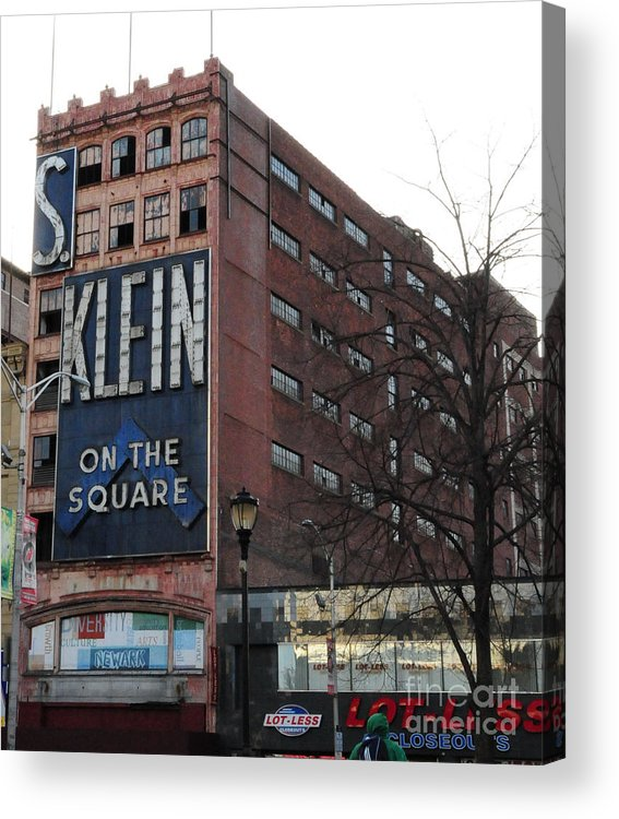 Paul Ward Acrylic Print featuring the photograph S Klien On The Square by Paul Ward