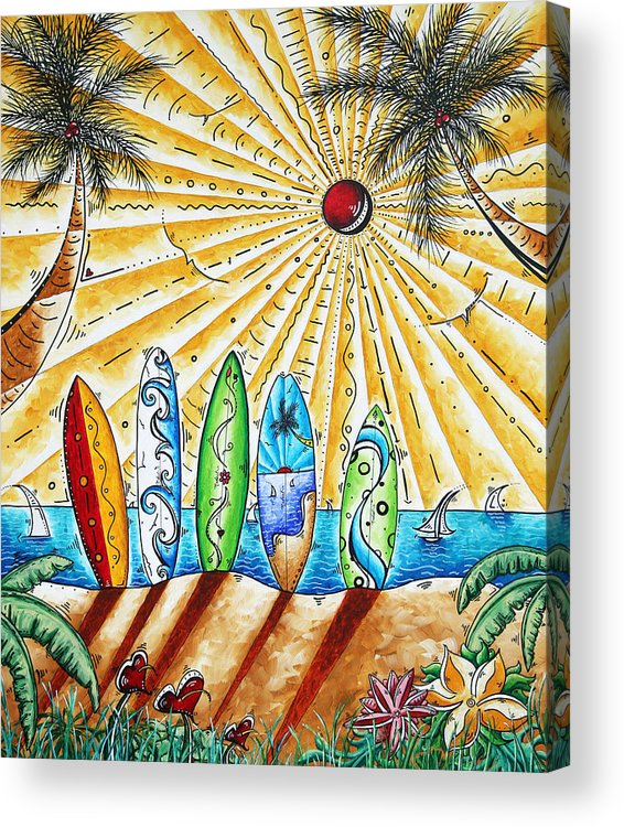 Tropical Acrylic Print featuring the painting Summer Break By Madart by Megan Duncanson