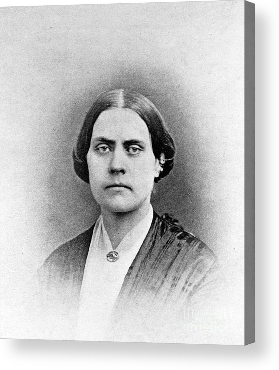 History Acrylic Print featuring the photograph Susan B. Anthony, American Civil Rights by Photo Researchers, Inc.