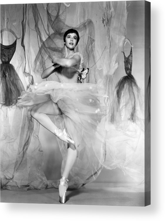 1950s Portraits Acrylic Print featuring the photograph Daddy Long Legs, Leslie Caron, 1955 by Everett