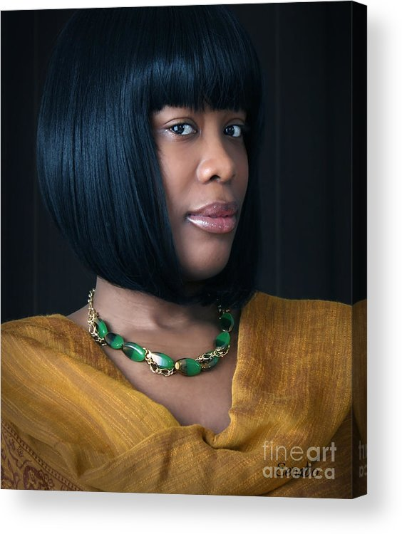 Jewelry Acrylic Print featuring the photograph Green And Gold by Eena Bo