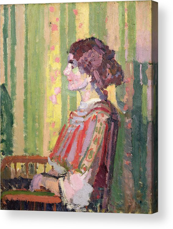 Xyc111981 Acrylic Print featuring the photograph Mrs Robert Bevan by Harold Gilman