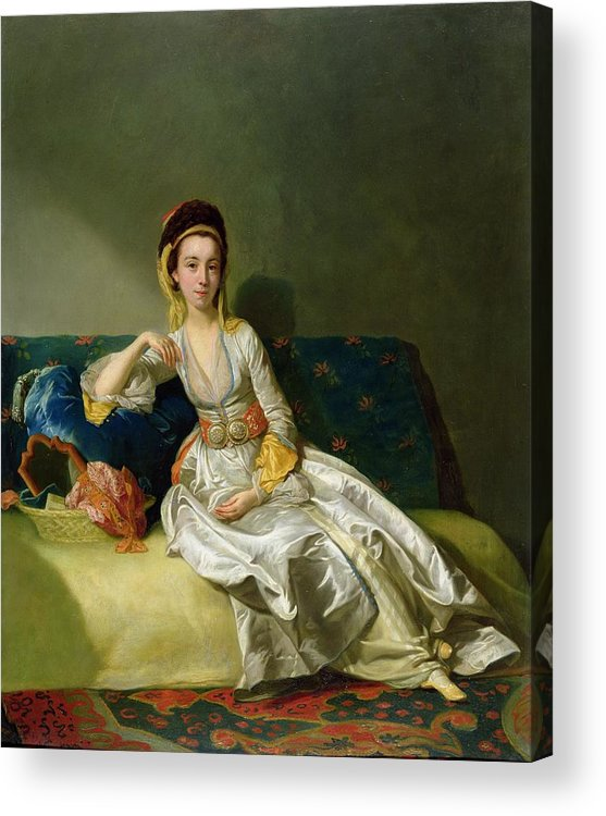 Xyc167691 Acrylic Print featuring the photograph Nancy Parsons In Turkish Dress by George Willison