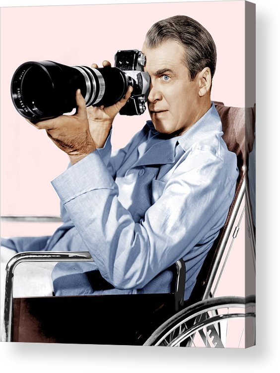 1950s Portraits Acrylic Print featuring the photograph Rear Window, James Stewart, 1954 by Everett