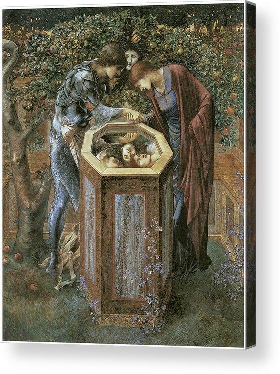 Edward Burne-jones Acrylic Print featuring the painting The Baleful Head by Edward Burne-Jones