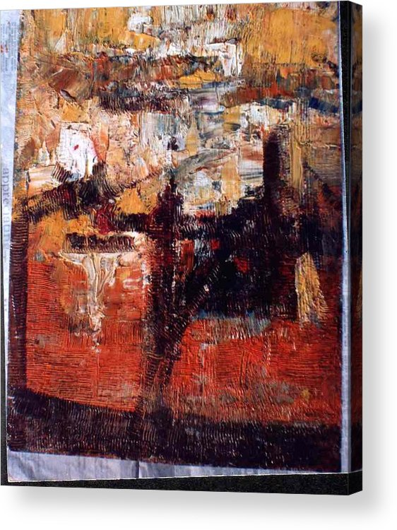 Abstract Paintings Acrylic Print featuring the painting Abstract-1 by Anand Swaroop Manchiraju