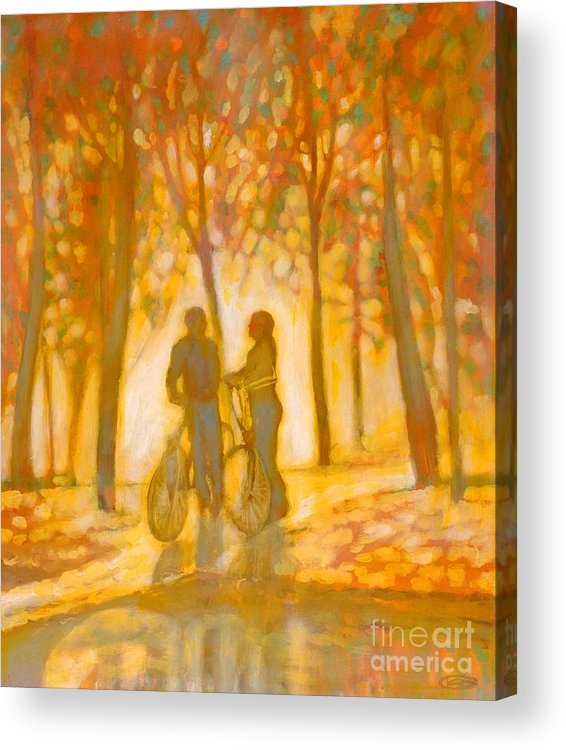 Romance Acrylic Print featuring the painting Chance Encounter by Kip Decker