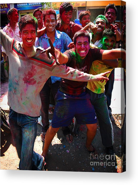 Boys Acrylic Print featuring the photograph Colors by Charuhas Images