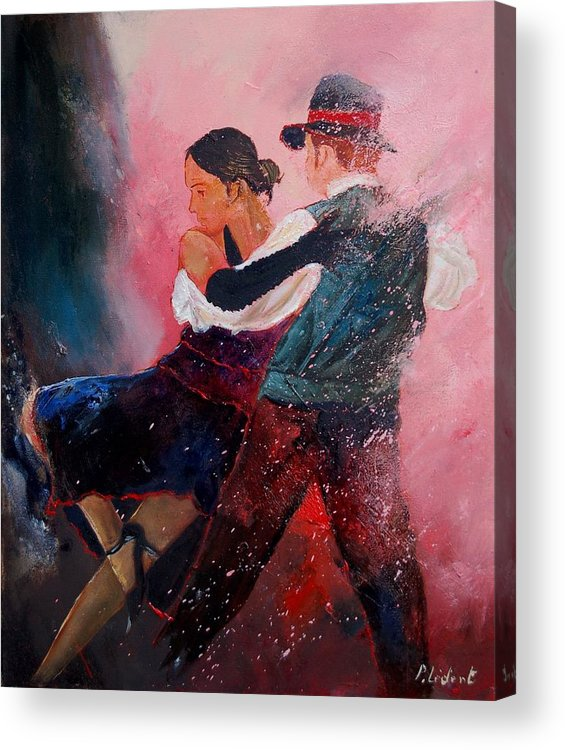 Music Acrylic Print featuring the painting Dancing Tango by Pol Ledent