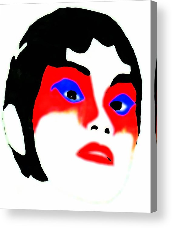 Beauty Acrylic Print featuring the drawing Mask by Jennifer Ott
