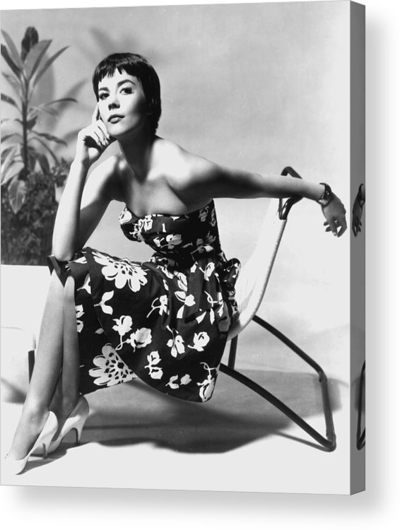 Natalie Wood Acrylic Print featuring the photograph Natalie Wood by American School