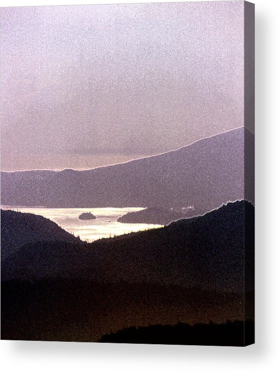 West Coast Acrylic Print featuring the photograph West Coast Mountain Sunset 2 Ae 24 by Lyle Crump