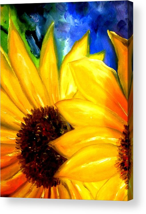 Flowers Acrylic Print featuring the photograph Sun Flower by Lord Frederick Lyle Morris