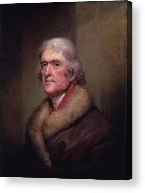 Thomas Jefferson Acrylic Print featuring the painting President Thomas Jefferson by War Is Hell Store
