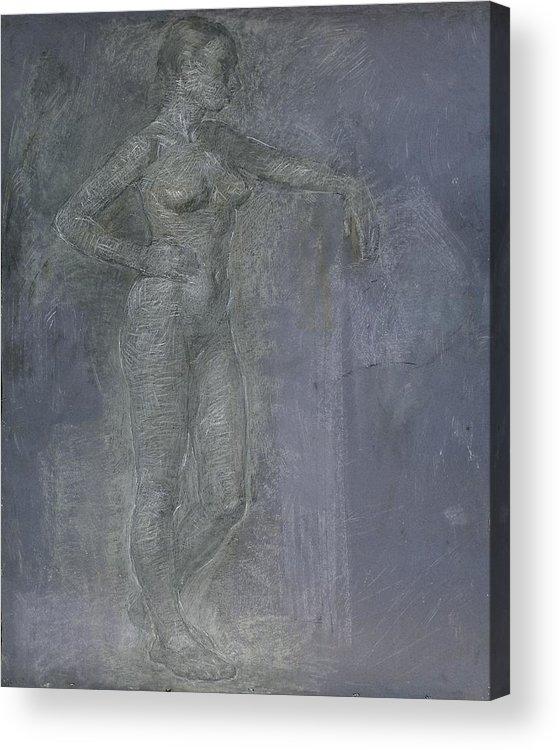 Beauty Acrylic Print featuring the painting Model by Robert Nizamov