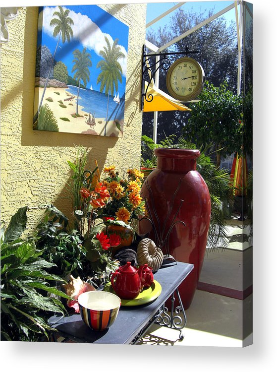 Still Life Photography Acrylic Print featuring the photograph A Place In The Sun by Frederic Kohli