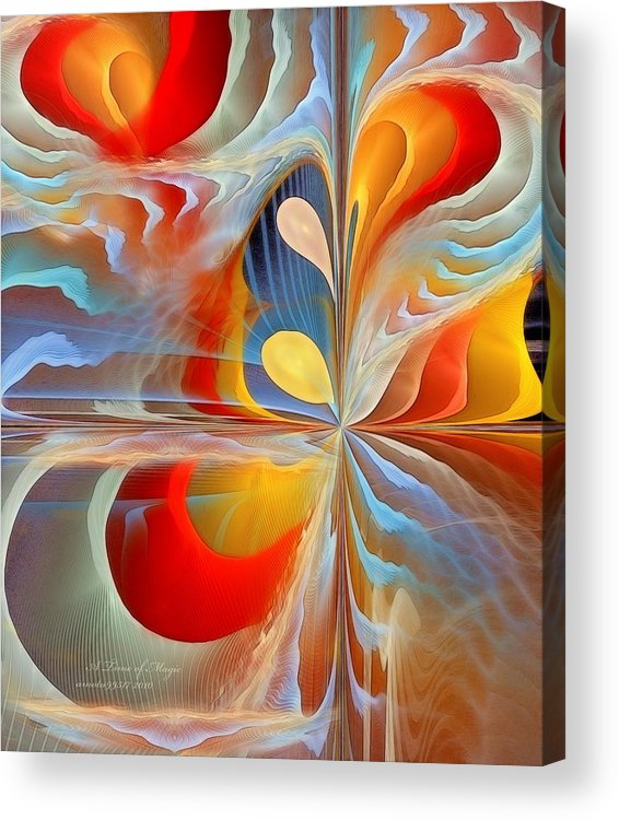 Fractal Acrylic Print featuring the digital art A Time Of Magic by Gayle Odsather
