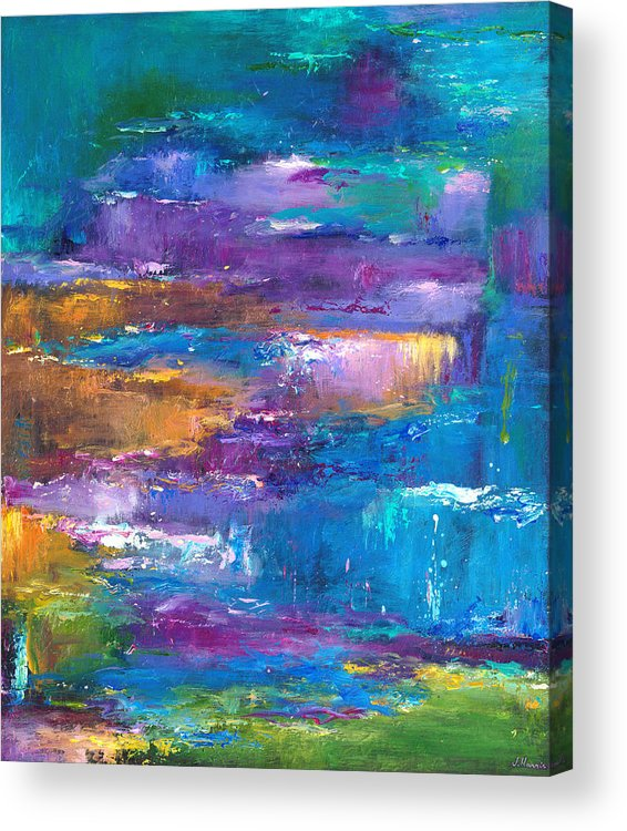 Abstract Landscape Art Acrylic Print featuring the painting A Walk To Remember by Johnathan Harris