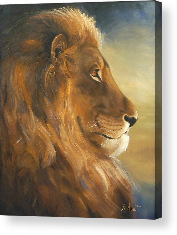 Painting Acrylic Print featuring the painting African King by Greg Neal