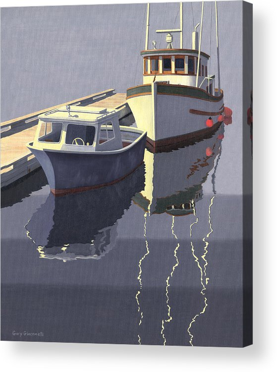 Boat Acrylic Print featuring the painting After The Rain by Gary Giacomelli