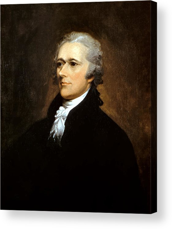 Alexander Hamilton Acrylic Print featuring the painting Alexander Hamilton by War Is Hell Store