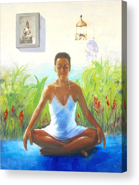 Portrait Acrylic Print featuring the painting Anne-marie by Podi Lawrence