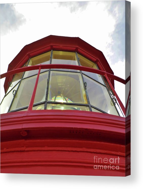 St Augustine Acrylic Print featuring the photograph Beauty In The Lighthouse Lens by D Hackett
