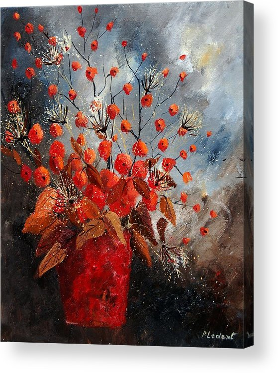 Flowers Acrylic Print featuring the painting Bunch 560608 by Pol Ledent
