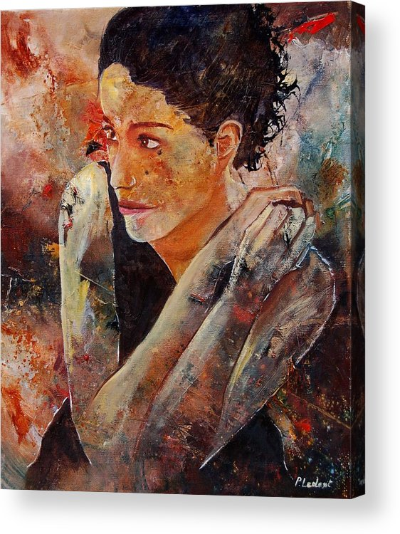 Figurative Acrylic Print featuring the painting Candid Eyes by Pol Ledent