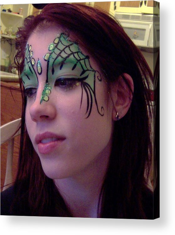 Face Paint Acrylic Print featuring the painting Cayce Dragon Princess by Deahn   Benware