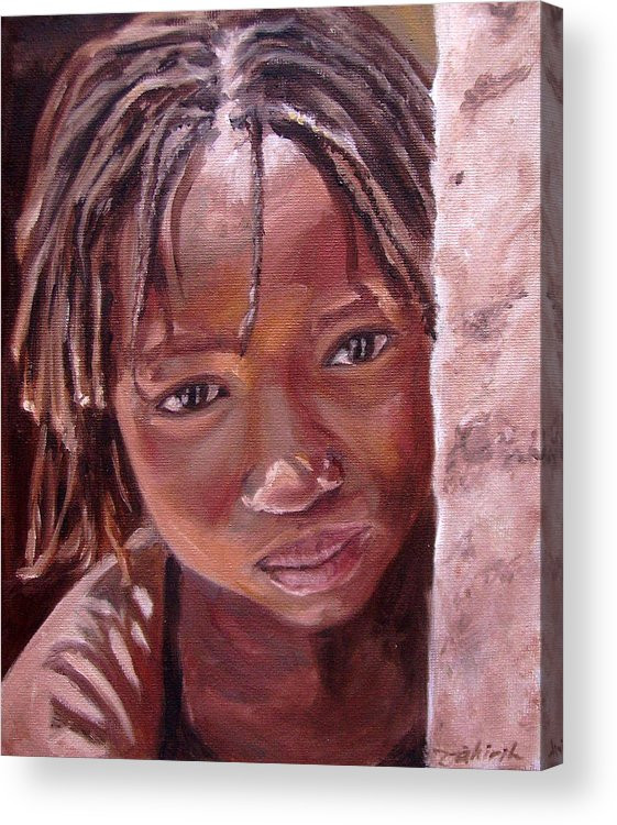 African Girl Acrylic Print featuring the painting Chantal by Tahirih Goffic