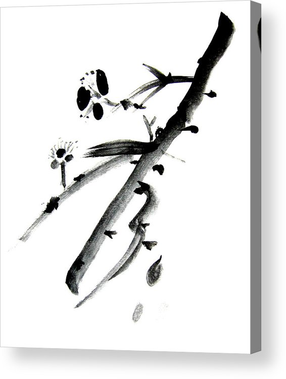 Chinese Brush Acrylic Print featuring the painting Chinese Brush L by Danny Pike